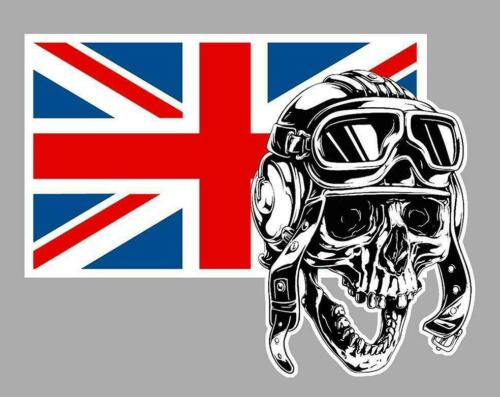 SKULL PILOT right UK droit Sticker
