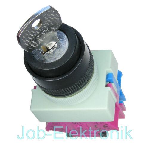 Schlüsselschalter Schalter 2 Positionen 1 Schließer 1 Öffner 22mm IDEC//Japan