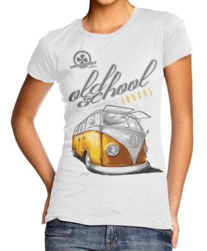 T-Shirt Oldtimer VW camionnette t1 Old School * Femmes Blanc
