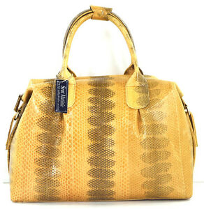 Genuine Snake Beige Handbag Leather strap Clutch W New Bag Hobo Purse 8111164770813 OvNnwym80P