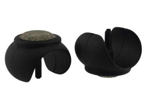 4 x Kugelschalengleiter Filz Ø 24-26mm schwarz Zapfen Filzgleiter Freischwinger