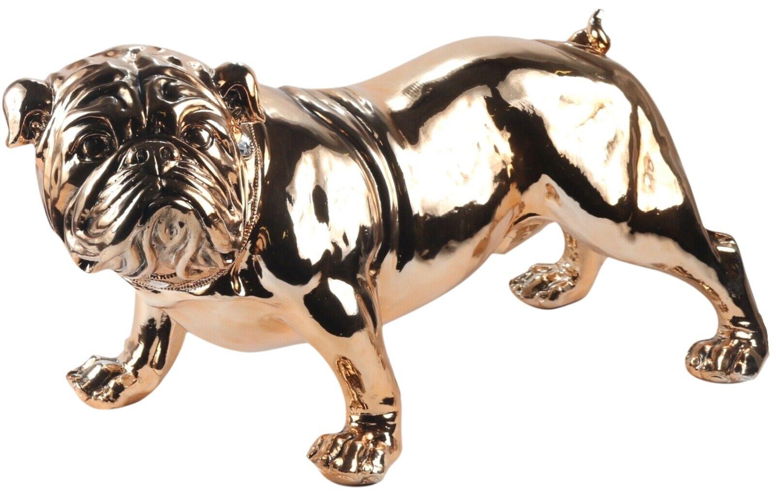 75cm Life Size British Bulldog Large Statue Electroplated Copper Polystone Ebay