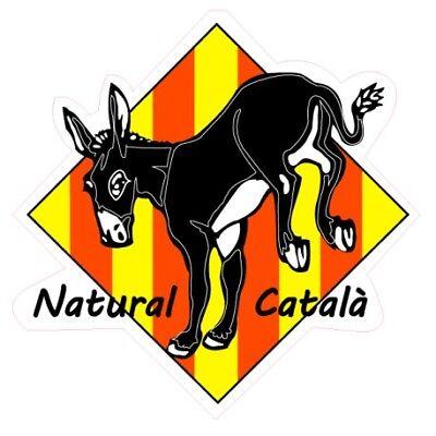 burro ane catalan cabeza autocollant sticker logo 1 17 cm