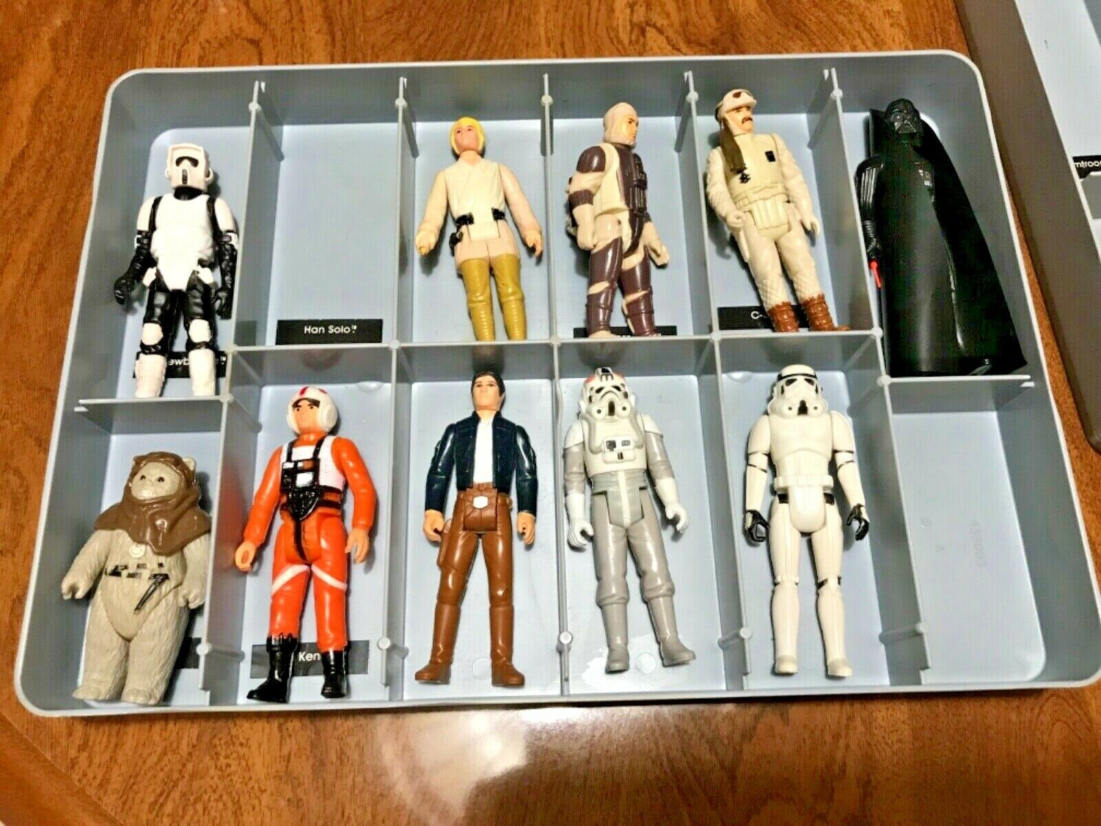 Vintage Star Wars 1977 Kenner Mini-Action Figure Collectors Case W  20 Figures