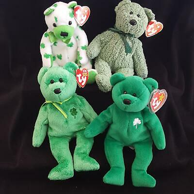 Ty Beanie Baby ~ SHAMROCK the Irish Bear ~ MINT with MINT TAGS ~ RETIRED