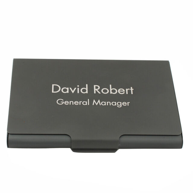 Personalized engraved business card holder case black metal brushed personalized engraved business card holder case black metal brushed men gift colourmoves