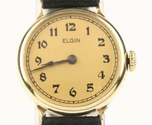 b6528b1ea11d La imagen se está cargando Vintage-Ladies-Elgin-14k-Oro -Amarillo-Correa-Manual-