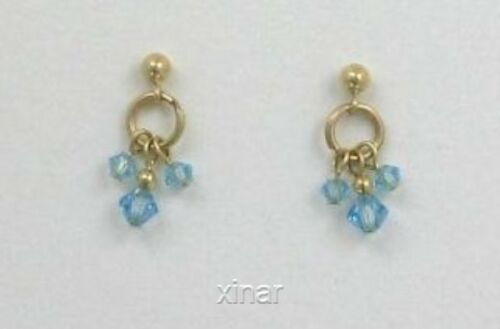 Choice of Color 14k Gold Filled Austrian Crystal Hoop Post Earrings