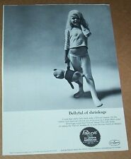 1964 print ad - Pak-nit knit fabric cute little girl small pajamas vintage Page