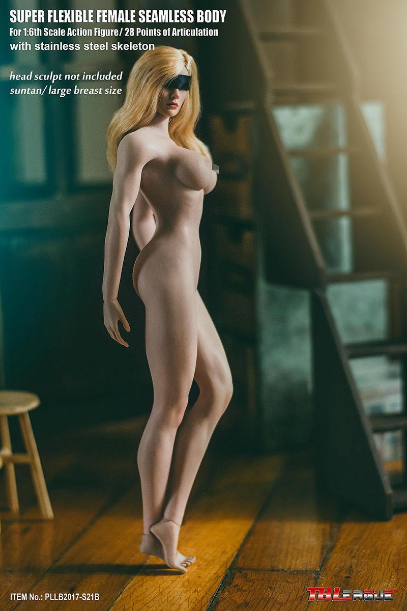 1 6 TBLeague S21B Female Seamless Body Flexible Suntan Large Breast Model Toy