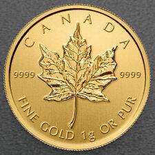 Maple Leaf 2018 1 Gramm Maplegram 999 Gold Goldmünze Blister m. Seriennummer