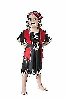 Kids Girls Dazzling Buccaneer Pirate Captain Fancy Dress Book Week Costume New