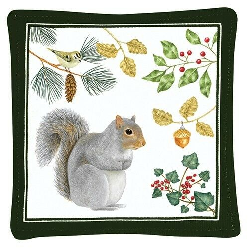Alice/'s Cottage Cotton Scented Spiced Mug Mat Coaster Holiday Squirrel NEW