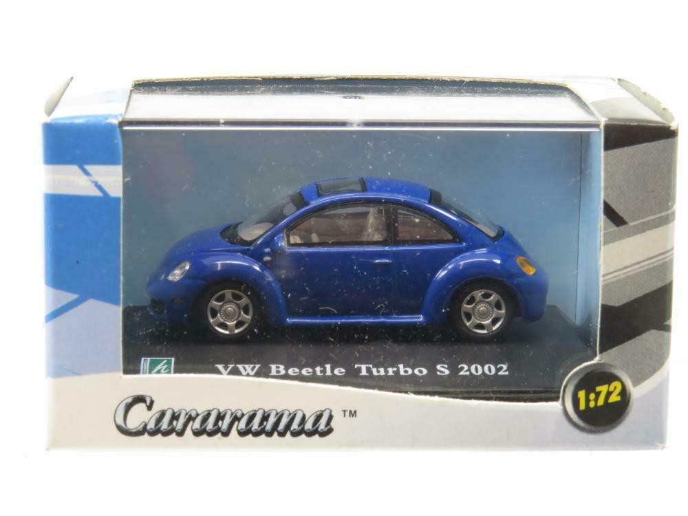 Cararama Hongwell VW Volkswagen Beetle Turbo S 2002 bluee 1 72 Scale Boxed