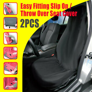 NEW-Pair-Throw-Over-All-Black-Slip-On-Seat-Cover-EASY-TO-FIT-Free-Shipping-AU
