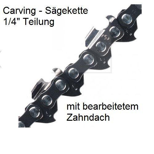 "1,3 Nut abgeschrägtes Zahndach Carving Holzschnitzen Sägekette 1//4/"" 65Treibgl"
