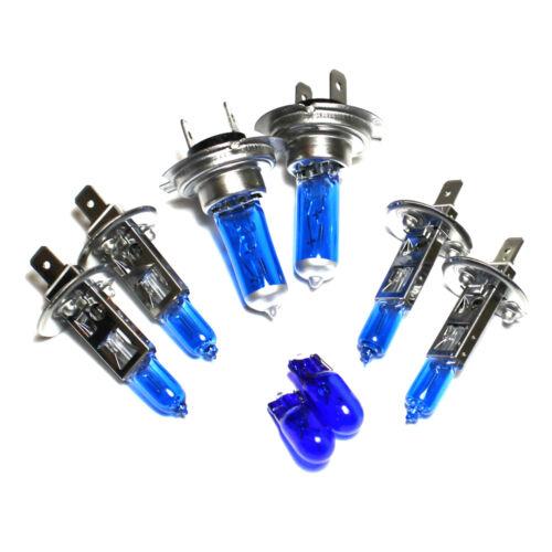 H7 H1 H1 501 100w Super White Xenon HID High//Low//Fog//Side Light Bulbs Set