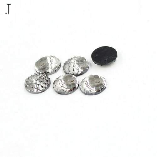 20x 12mm Rhinestone Fish Scales Cabochons Cameo Jewelry craft Resin Flat Back DS