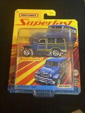 2020 Matchbox Superfast 1962 Willys Jeep Wagon 164 New