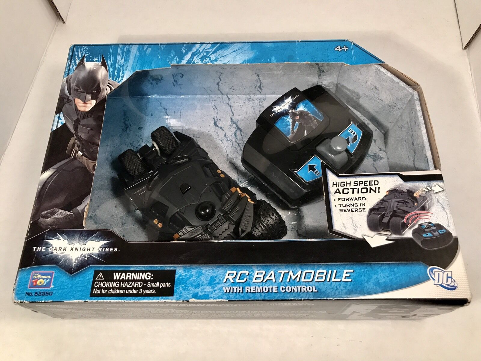 Batman Dark Knight RC Batmobile With Remote Control NIB Small