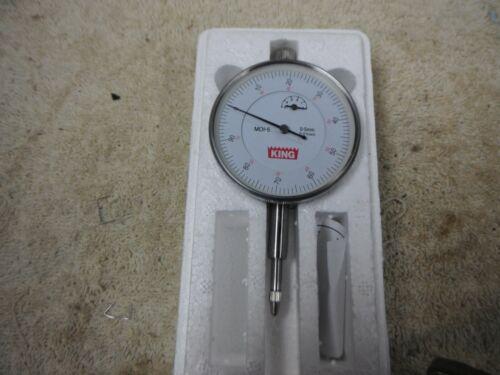 "KING  DIAL GAUGE INDICATOR 0/""//0.01mm # MDI-5 WITH BOX"