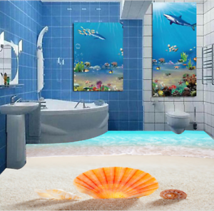3D Brillo Papel Pintado Mural Parojo Conchas de 632 Piso impresión 5D AJ Wallpaper Reino Unido Limón