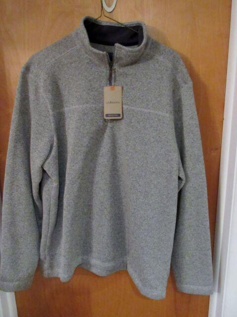 G.H. Bass and Co 1/4 Zip Sweater Fleece Mens Size XL