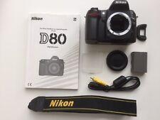 Nikon D D80 10.2MP Digitalkamera - Schwarz (Nur Gehäuse)