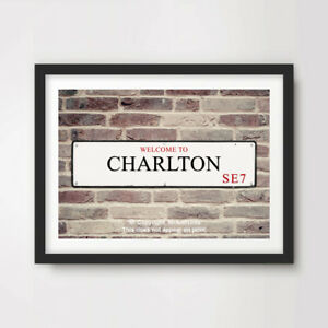 South London Poster Charlton Typography SE7 Gicl\u00e9e Art Print