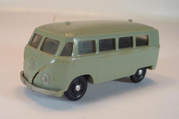Siku plastik   16 vw volkswagen kombi - bus fahrschule grau v-serie   698