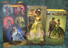 Disney Designer Fairytale Collection Doll Couple Princess Tiana & Naveen New!