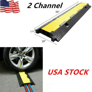 2 Channel Heavy Duty Wire Cover Cable Cord Road Ramp Protector PVC And Rubber