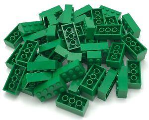 Lot Of 50 Lego Duplo Bricks Only 2 x 4 RED YELLOW BLUE LIGHT GREEN DARK GREEN 50