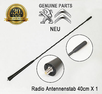 Peugeot 2008 206 301 306 307 406 Antenne Antennenstab Dach Radio 40cm Original