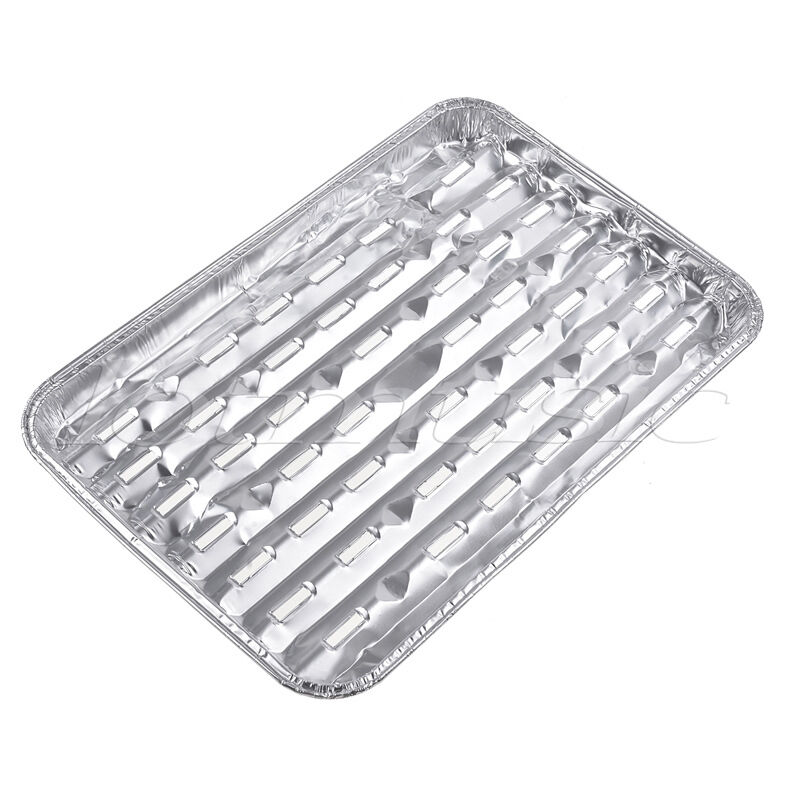 4set large disposable aluminum foil barbecue grill plate