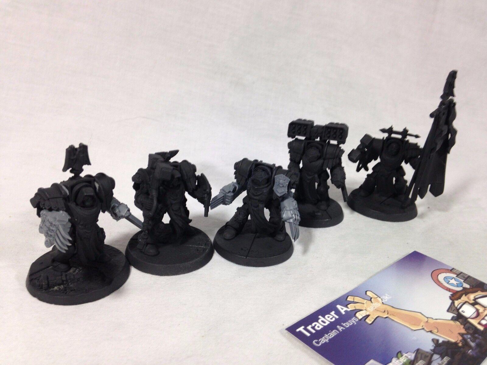 Warhammer 40k Dark Angels Space Marines Cataphractii Terminators x5 Cyclone Lot3