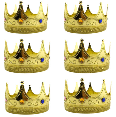 Gold Plastic Royal Crown Princess Holiday Christmas toy gift Accessory lot