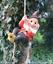Grand-Gnome-amant-cadeau-arbre-escalade-pendaison-Corde-Ornement-Decoration-Sculpture miniature 2