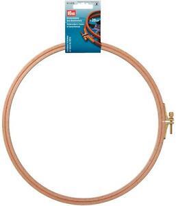 Prym-Stickring-Stickrahmen-Buchenholz-mit-Schraube-13-16-19-22-und-25cm