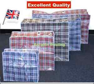 Image Is Loading Jumbo Laundry Bags Zipped Reusable Large Strong Ping