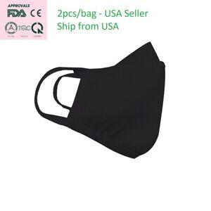 Black Unisex Face Mask Reusable Washable Cover Masks FDA, CE, ISO, TUV, Intertek
