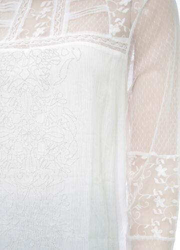 DESIGUAL BLUS RENACIDA tunique dentelle femme blanc cassé 17WWBW24 1001 Crudo