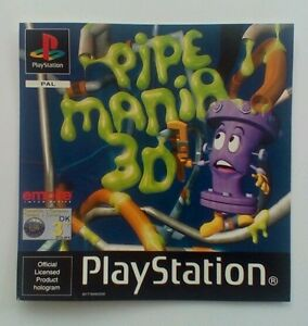 * Incrustation Avant Seulement * Pipe Mania 3d Inlay Ps1 Psone Playstation-afficher Le Titre D'origine 1vrvybm2-07162734-505480081