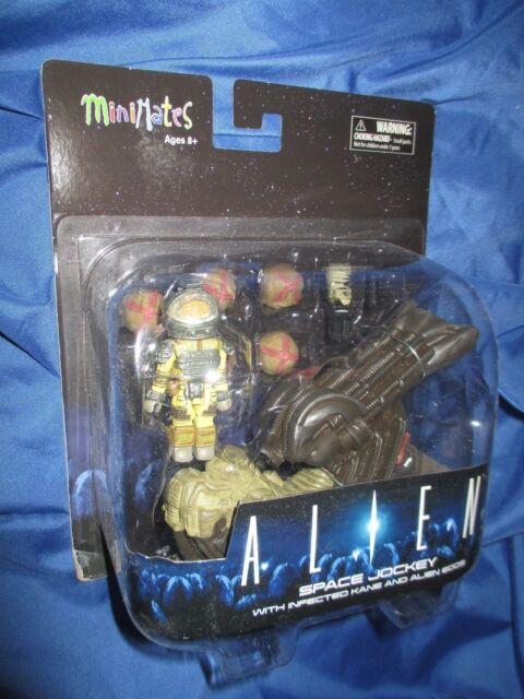 ALIENS Space Jockey/Alien Eggs/Infected Kane Movie MINIMATES Figure Set