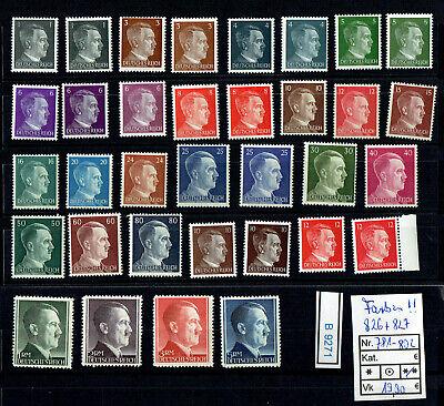 (b9271) Dr Nr. 781 - 802 A **, 826-827 ** Dauerserie Adolf H. --farben !! --