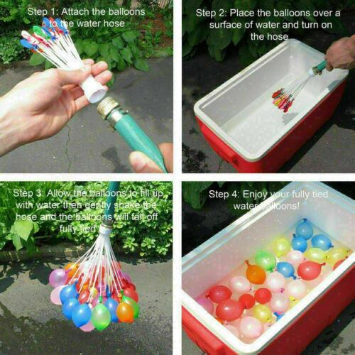 1110 Stück Magic Wasserbomben Wasserballon Sommer Spielzeug Vatertagsgeschenk DE