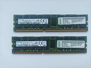 lot de 2 x 8 Gb SAMSUNG M393B1K70QB0-CK0   PC3-12800R Serveur DDR3-1600 RAM