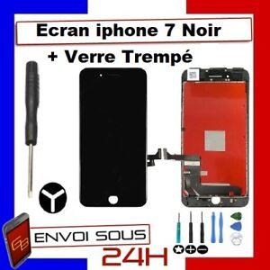 Vitre Tactile iPhone 7 Noir Ecran LCD Retina sur Chassis outils