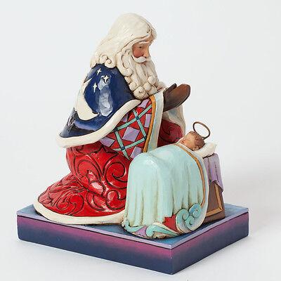 Jim Shore Santa Worshipping Baby Jesus Figurine ~ Heaven Rejoice ~ 4040897