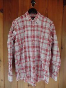 BURBERRY-039-S-Men-039-s-Plaid-Shirt-Size-M-Cotton-Linen